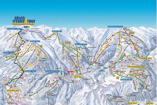 Nowa rekordowa trasa w Zillertal Arena oferuje narciarzom 1930m przewyższenia.