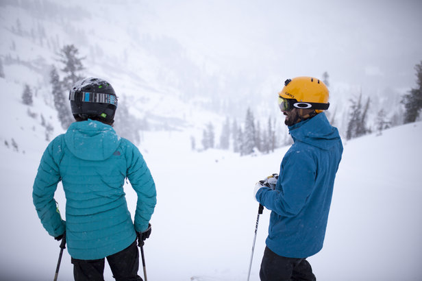 Enjoying the powder perspective at Squaw Valley | Alpine Meadows 12.11.15.