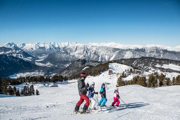 Von oben, erblickt man das ganze Skigebiet