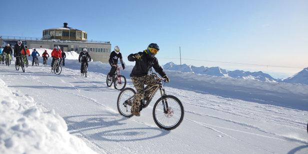 Glacier bike in Saas-Fee