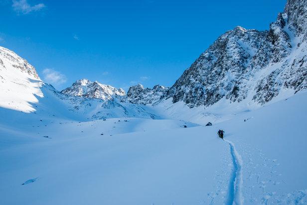 Auf dem Weg zum Schrankogel Skigipfel