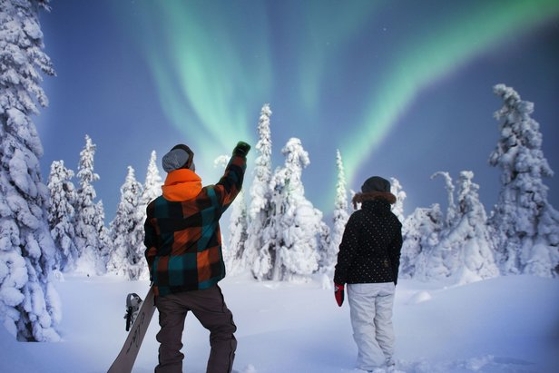 Northern lights over Ruka, Finland  - © Ruka Ski Resort