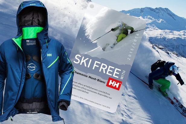 Con il programma Ski Free di Helly Hansen, puoi sciare gratis per un giorno in una delle migliori stazioni sciistiche del mondo!