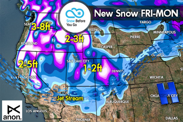 Snow Before You Go: Parade of Storms to Drop Powder out West ©Meteorologist Chris Tomer