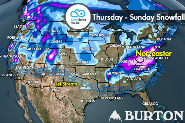 Snow Before You Go: Powder Refills for West, Northeast- ©Meteorologist Chris Tomer