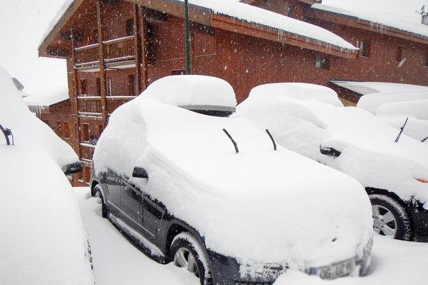 Schneemasen in Val Thorens am 4. Januar 2016