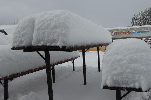 Świeży śnieg w PARK SNOW Donovaly, 11.2.2016