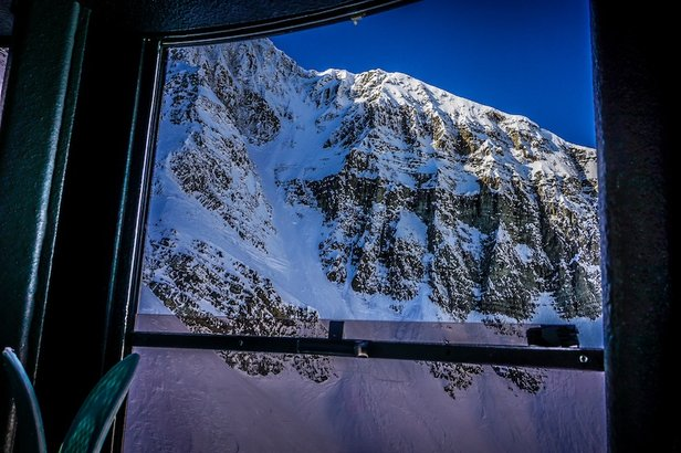 The Lone Peak Tram at Big Sky travels 2,828 feet in a matter of minutes.