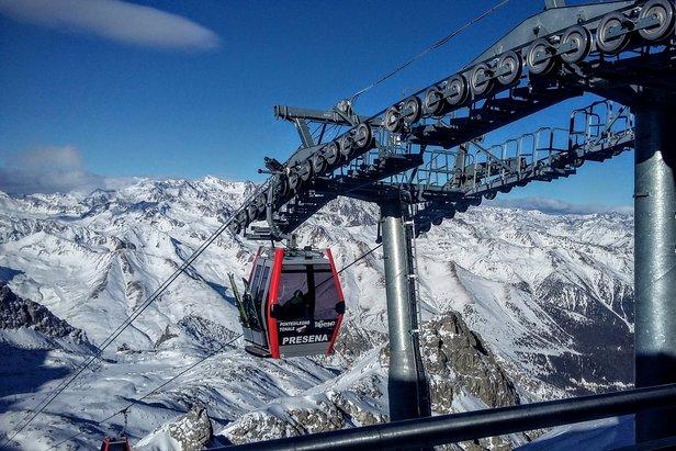 Nowa gondola na lodowcu Presena  - © Tomasz Wojciechowski