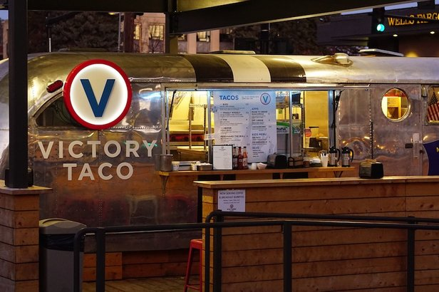Stop by Victory Taco for a cheap, yet delicious breakfast burrito before heading to the slopes.