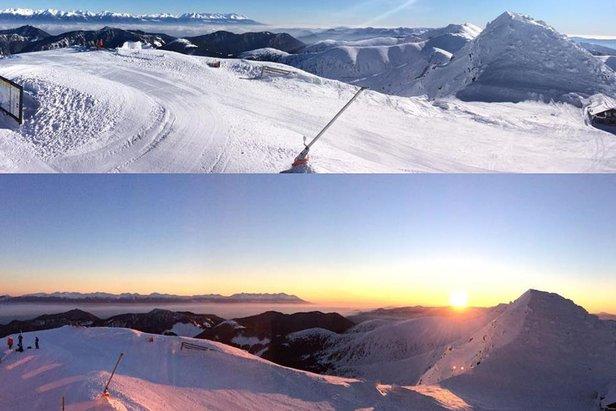 w Jasnej leży od ponad niemal pół metra  do 120 cm śniegu i czynnych jest 41 km tras zjazdowych.  - © facebook Jasna Nízke Tatry