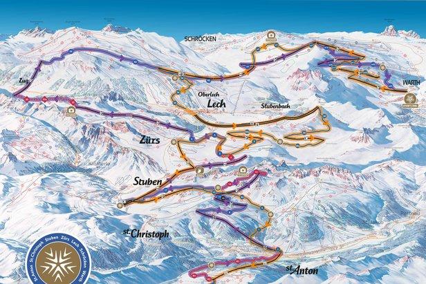 Run of Fame - 65 km dlhý okruh s celkovým prevýšením 18.000 m  - © Ski Arlberg