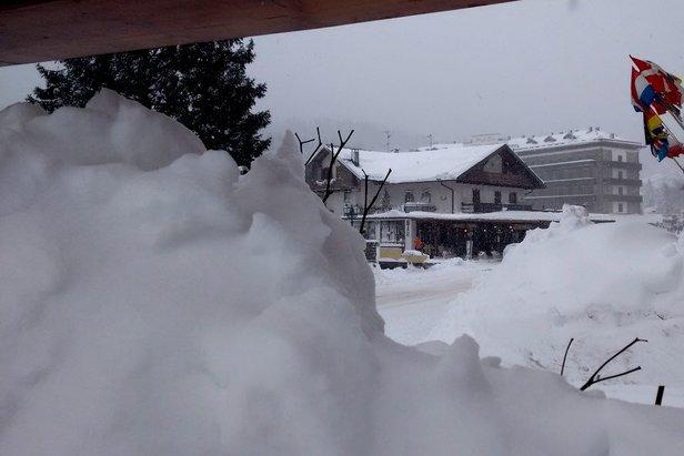 Snehové správy: Jar sa ešte nekoná, masy snehu v južných Alpách ©APT San Martino di Castrozza Facebook