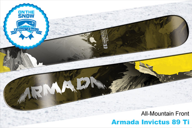 Armada Invictus 89 Ti, men's 16/17 All-Mountain Front Editors' Choice ski.