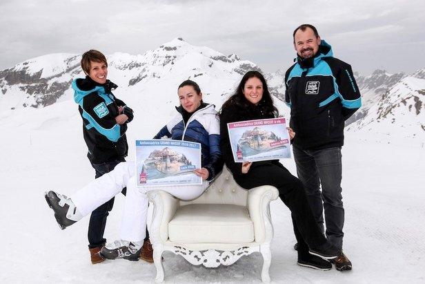 Delphine BENIER est l'heureuse gagnante d'un forfait de ski Grand Massif valable durant les 60 prochaines années...