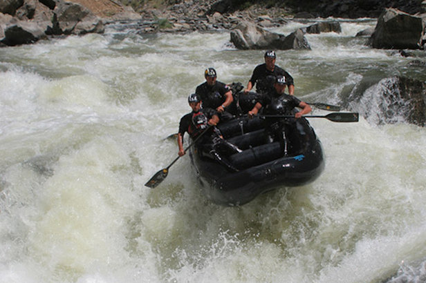 The legendary Gore Canyon offers five miles of intense Class V whitewater.   - © Timberline Tours