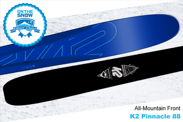 K2 Pinnacle 88, men's 16/17 All-Mountain Front Editors' Choice ski.