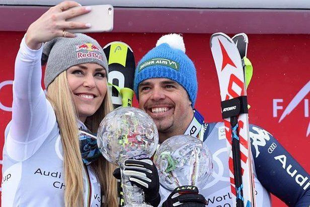 Selfie time! Lindsey Vonn & Peter Fill