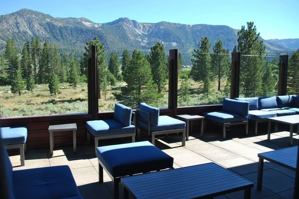 Step into the Sky Lounge at Mammoth Rock Brasserie for fine dining and a bird's-eye view of the mountains that make Mammoth Lakes so beautiful.  - © Lara Kaylor