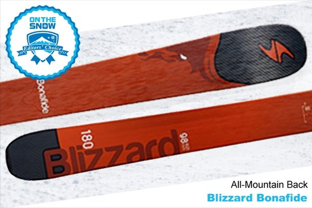 Blizzard Bonafide, men's 16/17 All-Mountain Back Editors' Choice ski.