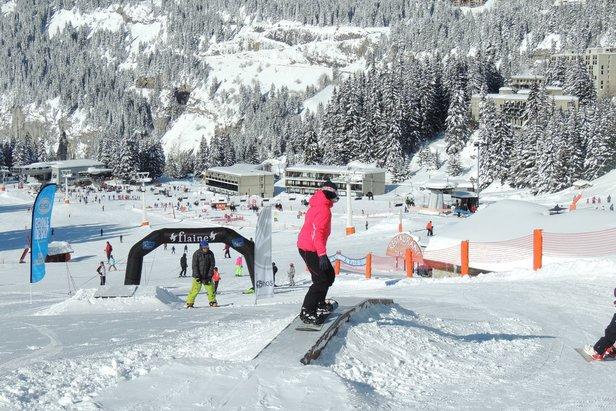Les joies de la glisse sur les pistes de ski de Flaine