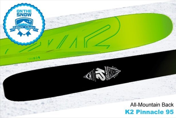 K2 Pinnacle 95, men's 16/17 All-Mountain Back Editors' Choice ski.
