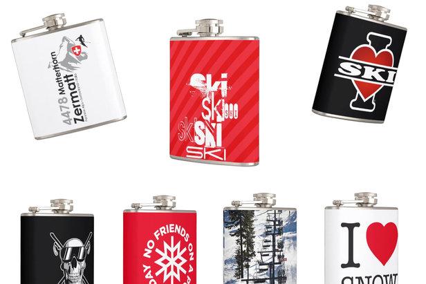 Offrez-vous une flasque estampillée ski/snowboard