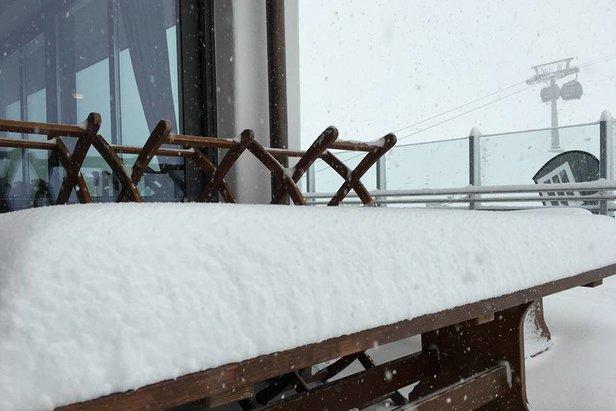 Neuschneebilder aus den Alpen: Ordentlich Schneefall am 6./7. November ©Facebook Hintertuxer Gletscher