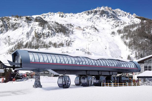 A Val d'Isère, la nouvelle télécabine 10 places assises de Solaise vous accueillera à partir de l'hiver 2016-17.