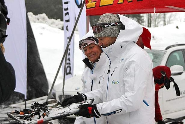 Rosi Mittermaier und Christian Neureuther in Winterberg