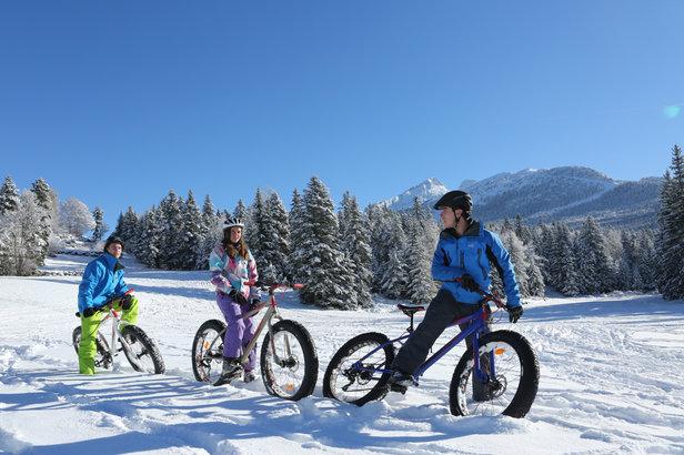 Fat bike & VTT sur neige sur les sentiers enneigés du Vercors- ©S. Charles