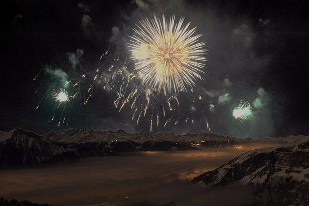 Leukerbad bietet einen tollen Ausblick auf Silvesterfeuerwerke der Region  - © Leukerbad Tourismus