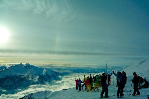 Meiringen Hasliberg SUI skiers