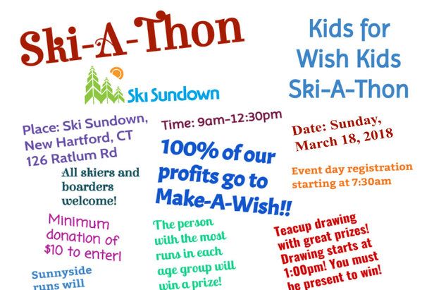 Ski-A-Thon for the Make A Wish Foundation  ©Ski Sundown