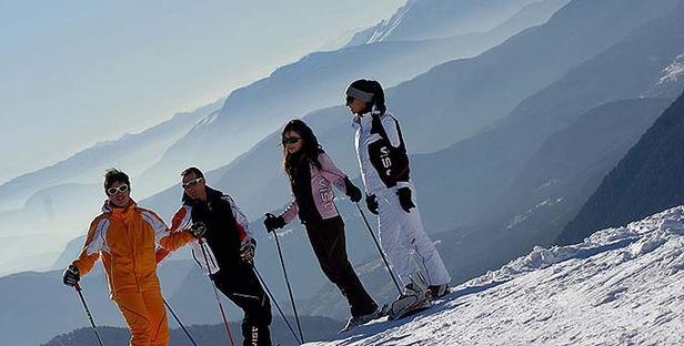 Val di Fiemme_Skifahrer