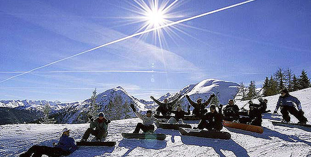 Gruppe Snowboard