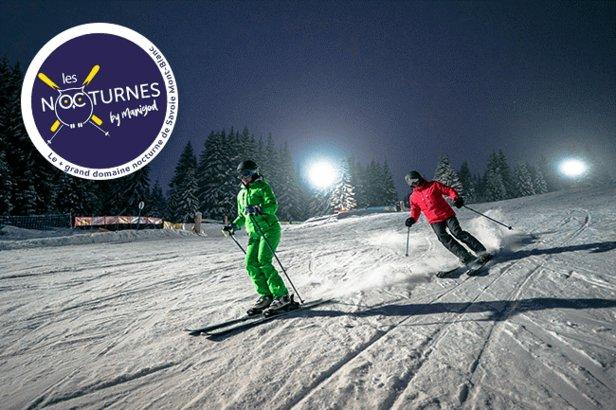 Manigod propose ni plus ni moins que le plus grand domaine de ski nocturne de Savoie Mont-Blanc...