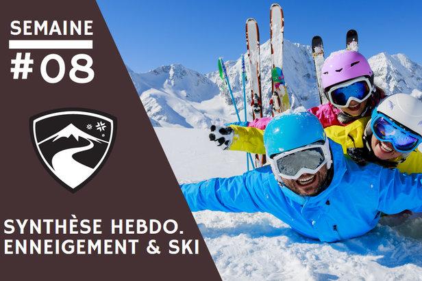Rapport hebdomadaire du 19 février 2020 et synthèse des conditions d'enneigement dans les stations de ski françaises (évolution des hauteurs de neige, taux d'ouverture des domaines skiables...)