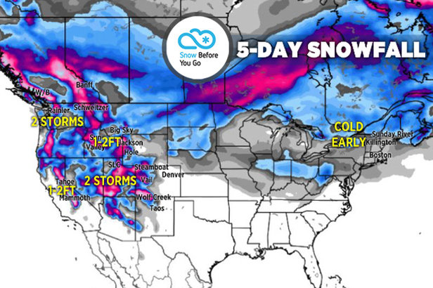 Large Storms, 1-3 Feet for Parts of West: 1.31 Snow B4U Go- ©Meteorologist Chris Tomer