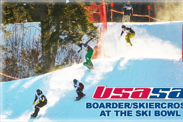 USASA Boarder/SkierCross - at the Ski Bowl ©This event is great for learning the sport of boarder/skiercross so tell all of your friends- the more we have the better the racing!