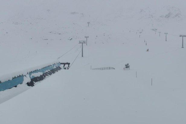 22cm of fresh snow for Stubai glacier 8.9.19  - © Stubai glacier