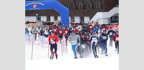 Val Gardena Ciasp: Das Schneeschuhrennen
