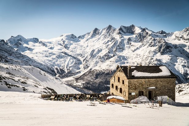 Enjoy a hot chocolate at the traditional stone Weissmieshütte above Saas-Fee    - © Saas-Fee