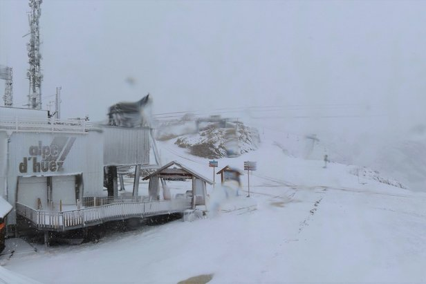 Snow report 15/10/19: Snow is falling in the Alps- ©Alpe d'Huez/Facebook