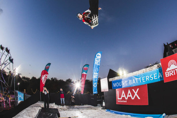 Mount Battersea's 50ft kicker  - © Ski & Snowboard Festival