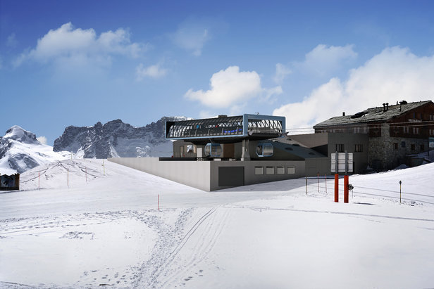 So soll die Bergstation der Gondelbahn Kumme in Zermatt aussehen.