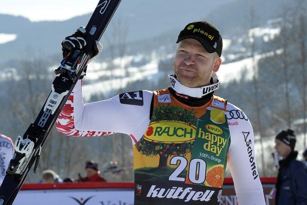 Beste Chancen auf kleine Kugel: Didier Cuche gewinnt Super-G in Kvitfjell- ©Jonas ERICSSON/AGENCE ZOOM