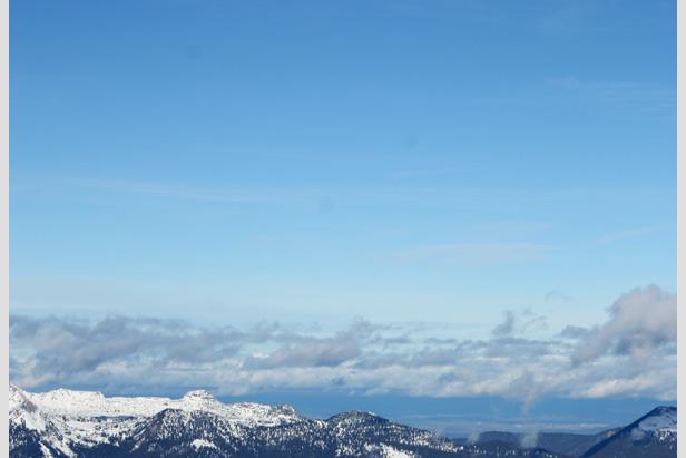 Blick auf das Ziel an der Bergstation der Karwendelbahn