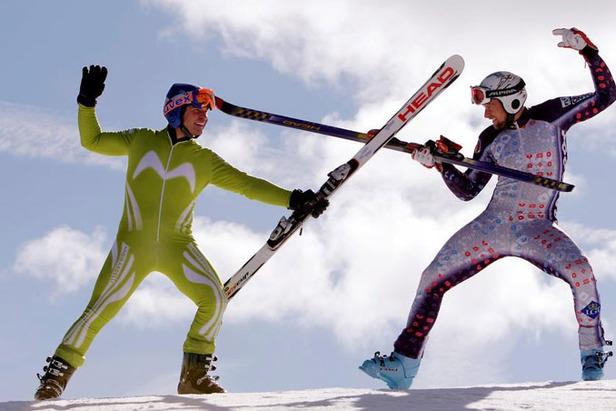 Verrücktes Ski-Duell ©www.blick.ch