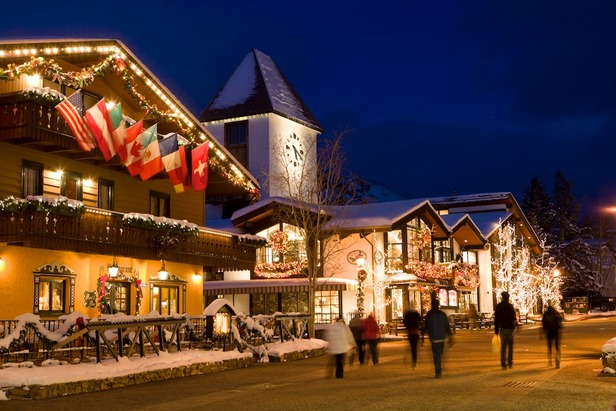Vail is decorated for the holidays.
